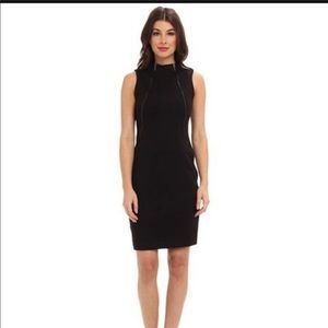Calvin Klein midi career scuba dress Zip-Accented